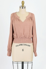 Final Touch Juliette Blouse In Clay - Front cropped