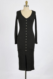 Final Touch Lana Long Sleeve Body Front Dress In Black - Product Mini Image