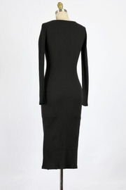 Final Touch Lana Long Sleeve Body Front Dress In Black - Front full body