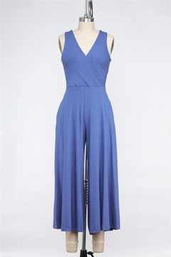 Final Touch Lapis Love Soft Stretch Cross Front Jumpsuit - Product List Image