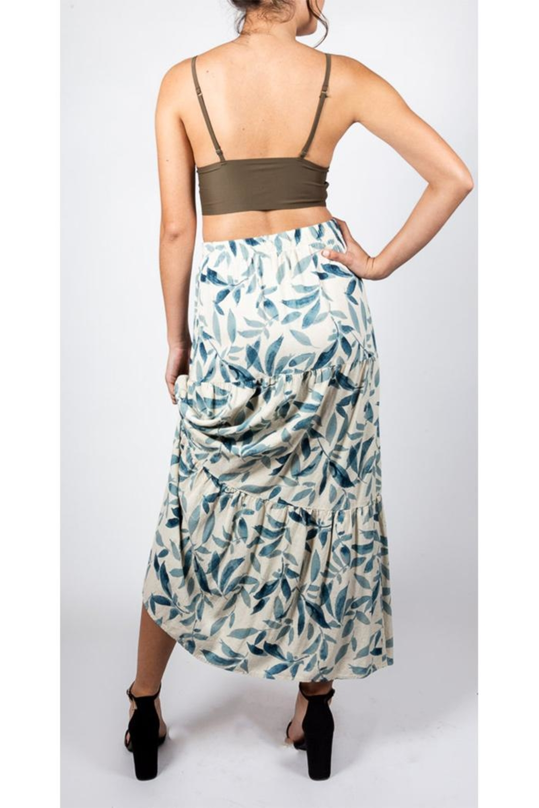 Final Touch Leafy Maxi Skirt - Side Cropped Image