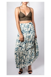 Final Touch Leafy Maxi Skirt - Front cropped