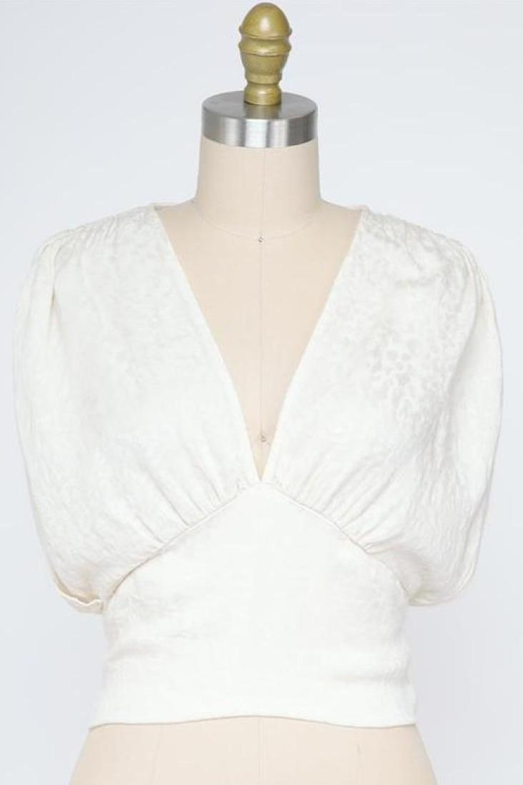 Final Touch Mademoiselle Blouse In Ivory - Main Image