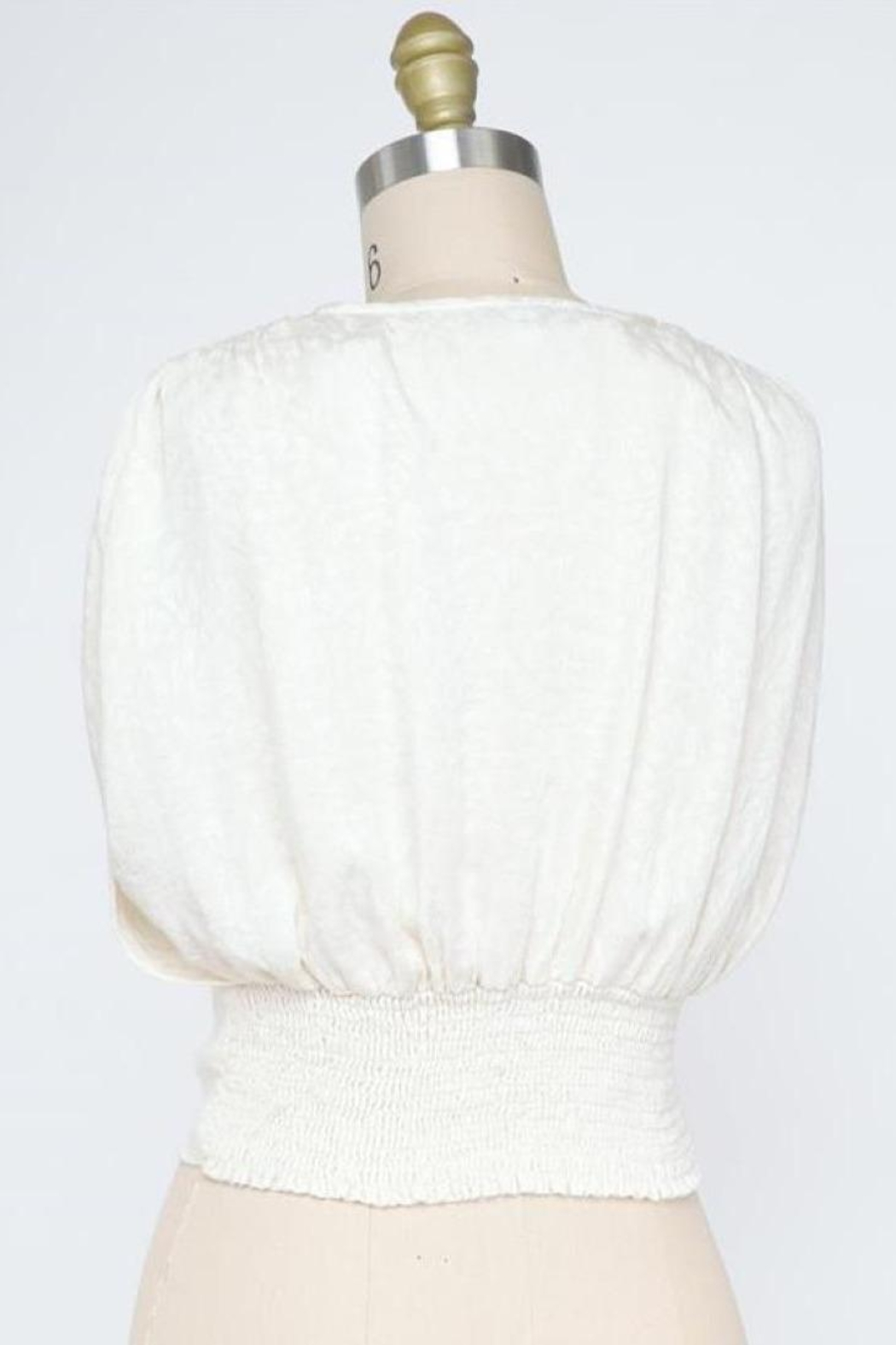 Final Touch Mademoiselle Blouse In Ivory - Front Full Image