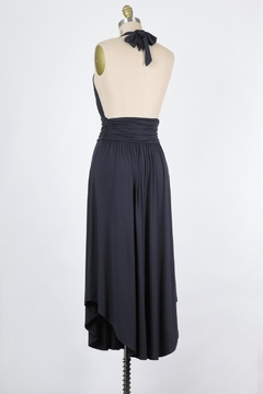 Final Touch Marilyn Soft Stretch Jersey Halter Dress In Graphite - Alternate List Image