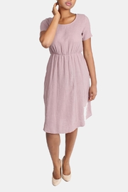 Final Touch Mauve Linen Dress - Product Mini Image