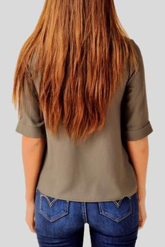 Shoptiques Product: Mid-Sleeve Olive Top