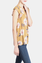 Final Touch Mustard Floral Blouse - Side cropped