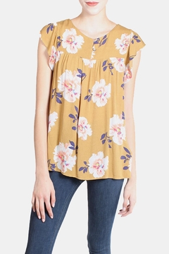 Final Touch Mustard Floral Blouse - Product List Image