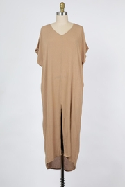Final Touch Ocean Front Gauze Tunic Dress Available In Natural Or Olive - Product Mini Image