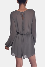 Final Touch Olive Chiffon Romper - Back cropped