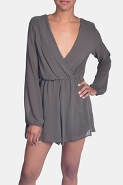 Final Touch Olive Chiffon Romper - Product Mini Image