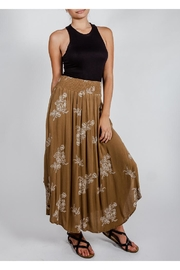 Final Touch Olive Floral Midi-Skirt - Back cropped