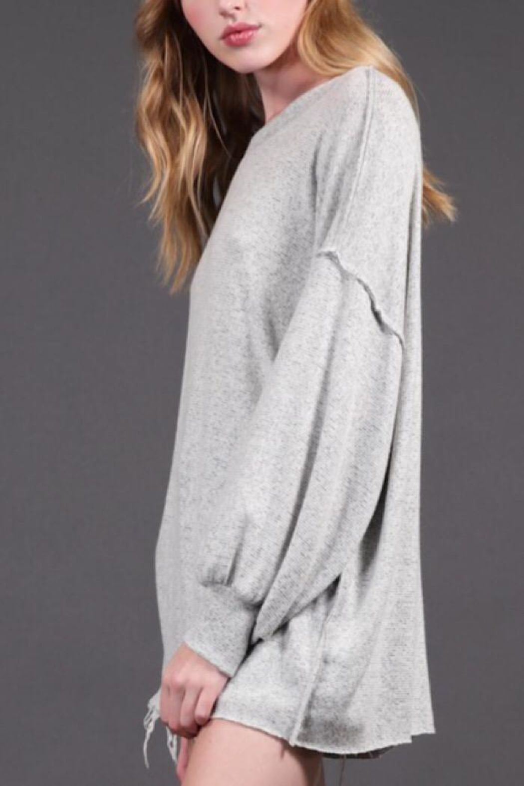 Final Touch Oversized Knit Pullover - Front Full Image