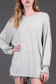Final Touch Oversized Knit Pullover - Front cropped