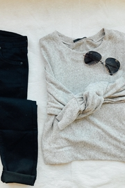 Final Touch Perfect Grey Sweater - Front cropped