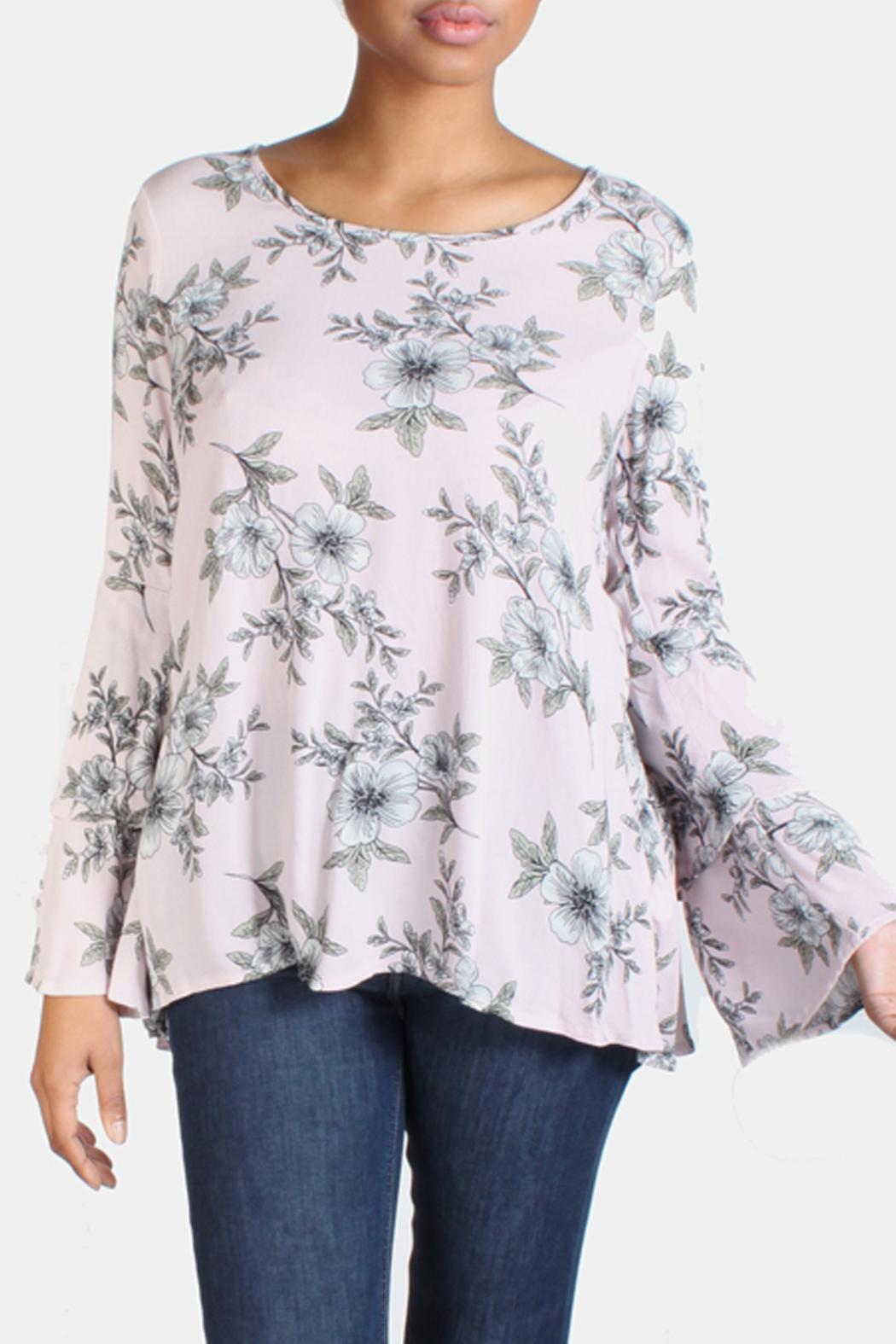 Final Touch Floral Bell Sleeve Blouse From Los Angeles By Goldies