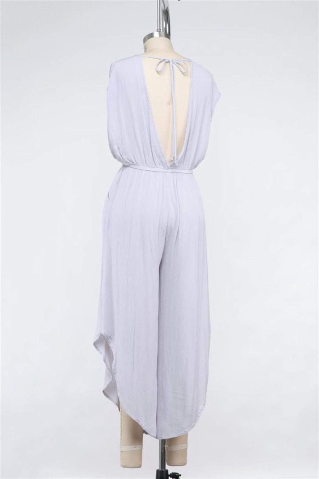 Final Touch Rayon Gauze Jumpsuit - Front Full Image