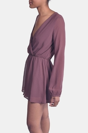 Final Touch Red Brown Chiffon Romper - Front full body