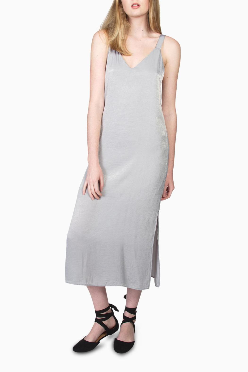 Final Touch Satin Midi Dress - Main Image