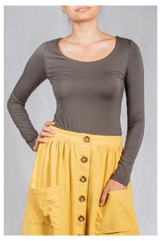 Final Touch Scoop-Neck Double-Layer Top - Product Mini Image