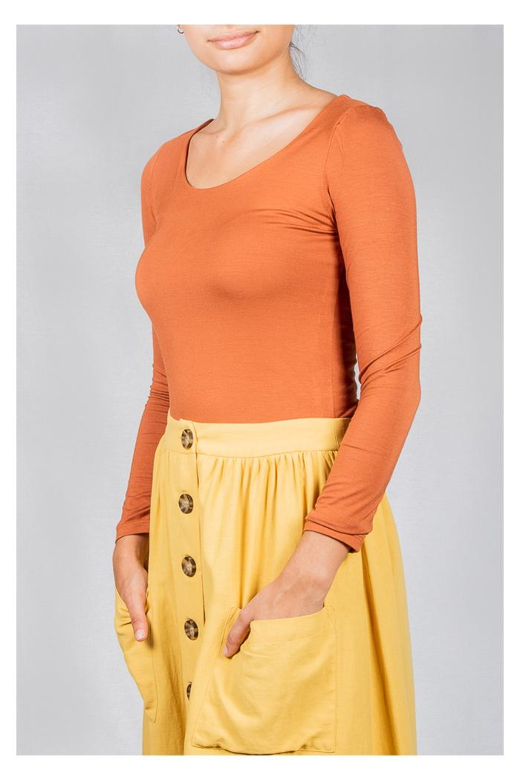 Final Touch Scoop-Neck Double-Layer Top - Front Cropped Image