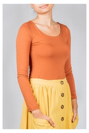 Final Touch Scoop-Neck Double-Layer Top - Front full body