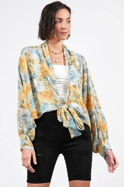 Final Touch Sheer Floral Cardigan - Product Mini Image