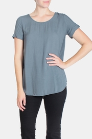 Final Touch Short Cuff Sleeve Tee - Front full body