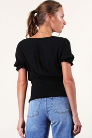 Final Touch Smocked Wrap Top - Side cropped
