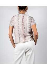Final Touch Snake Patten Tee - Back cropped