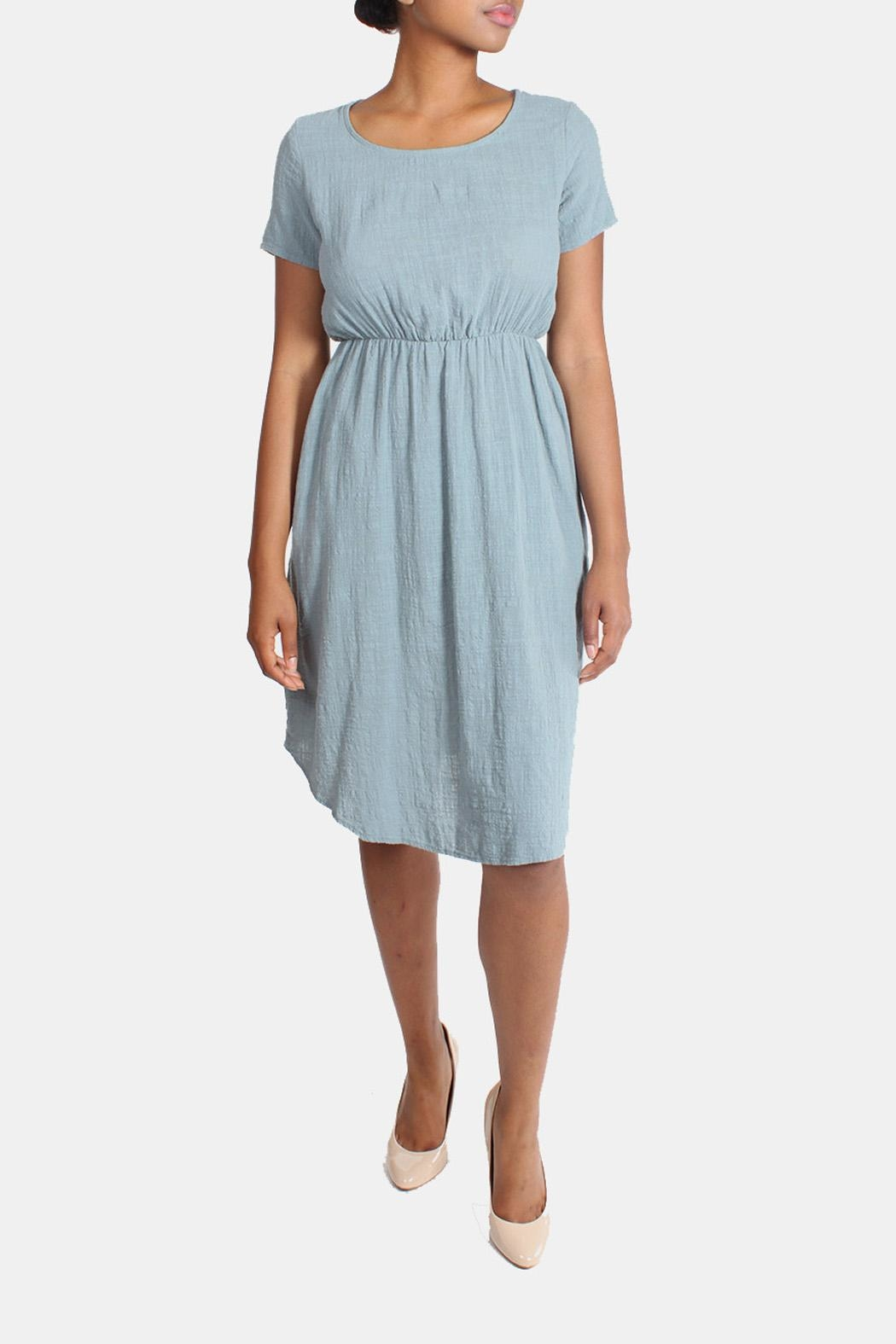 Final Touch Linen Midi Dress - Front Full Image