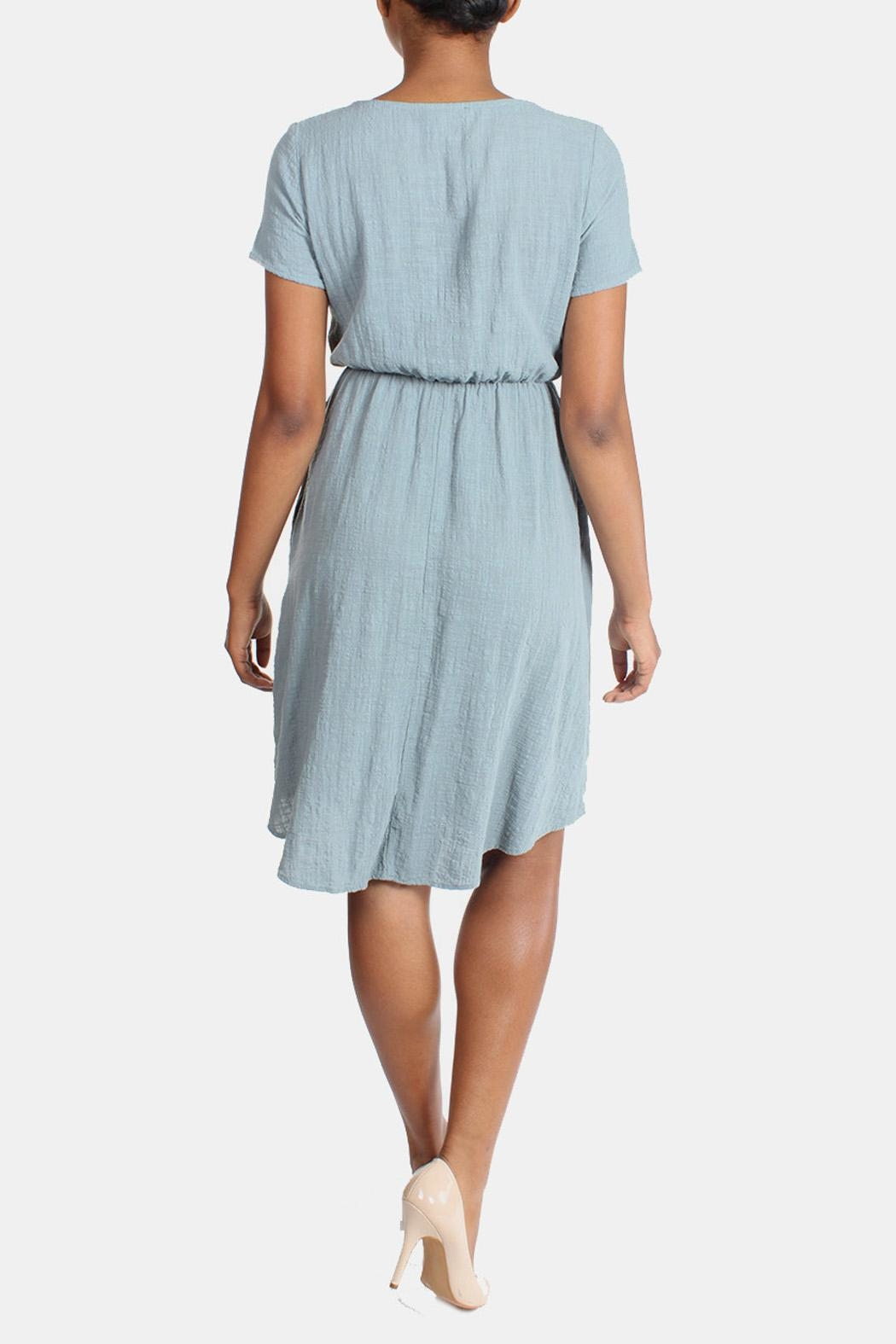 Final Touch Linen Midi Dress - Back Cropped Image