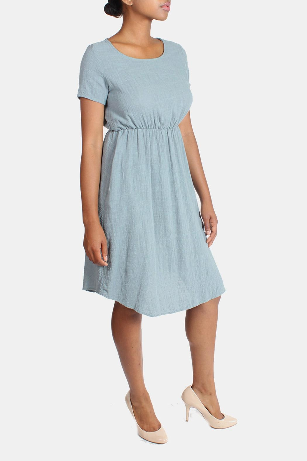 Final Touch Linen Midi Dress - Front Cropped Image