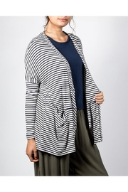 Final Touch Striped Flowy Cardigan - Product Mini Image