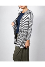 Final Touch Striped Flowy Cardigan - Front full body