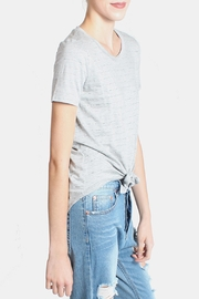 Final Touch Striped Heather Gray Top - Side cropped