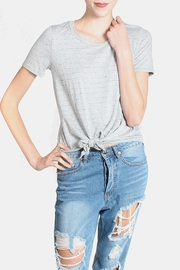 Final Touch Striped Heather Gray Top - Front cropped