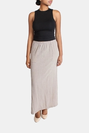 Final Touch Taupe Linen Maxi Skirt - Product Mini Image