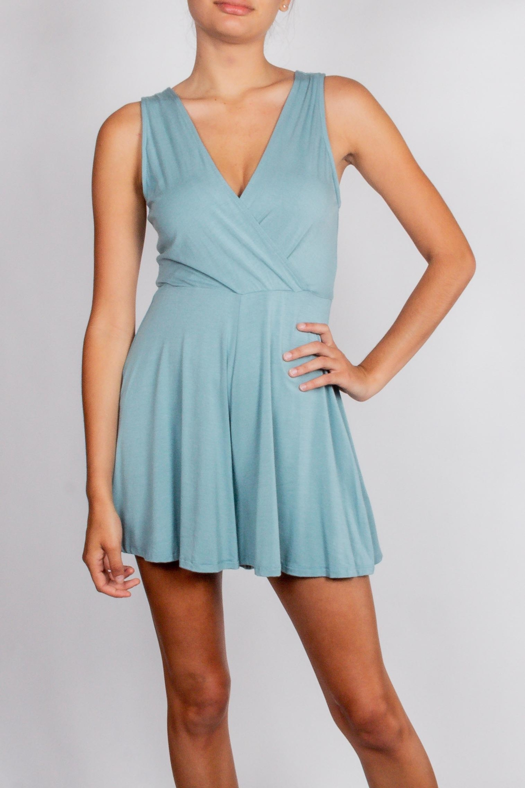 Final Touch Teal Wrap Romper - Main Image