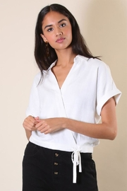 Final Touch Tie Bottom Blouse - Product Mini Image