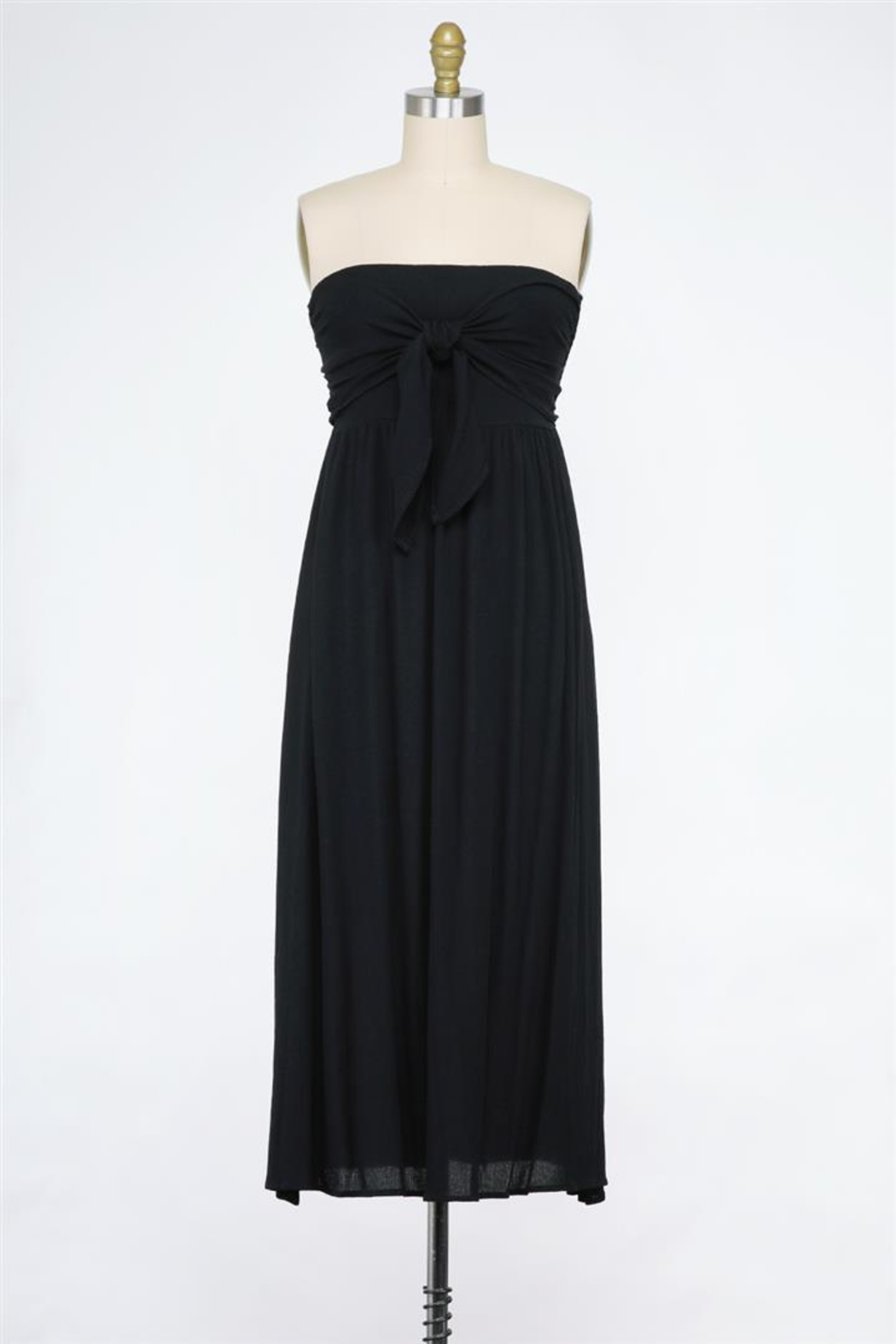 Final Touch Tied And True Strapless Tube Dress (Available In 2 Colors Black & Blush) - Front Cropped Image