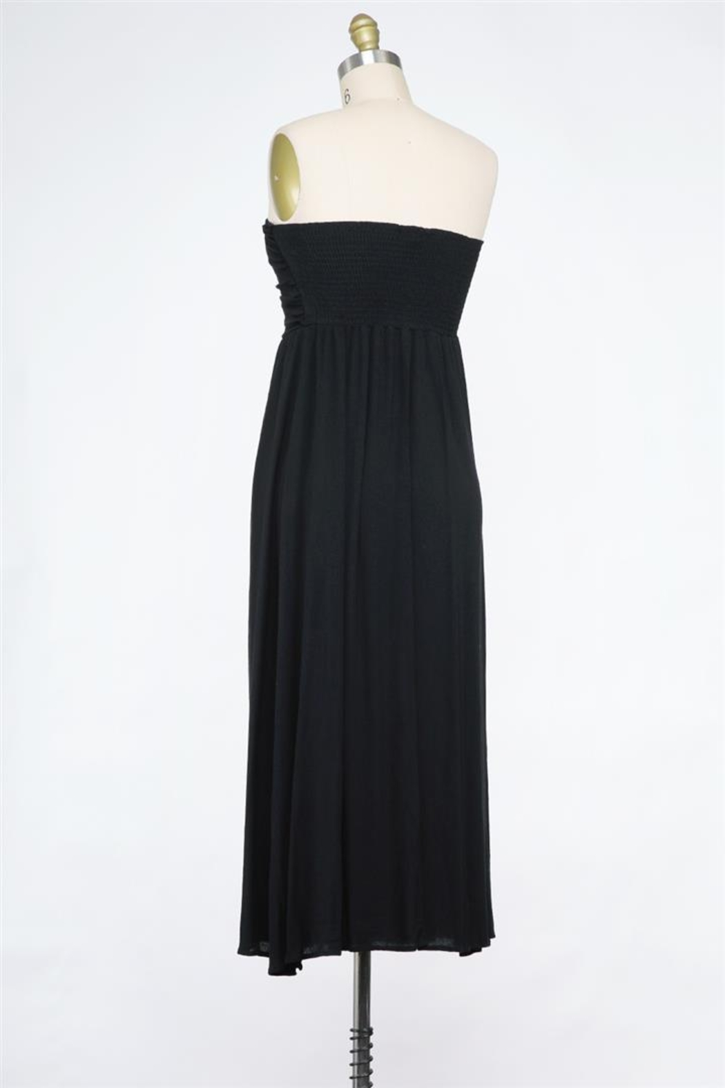 Final Touch Tied And True Strapless Tube Dress (Available In 2 Colors Black & Blush) - Front Full Image