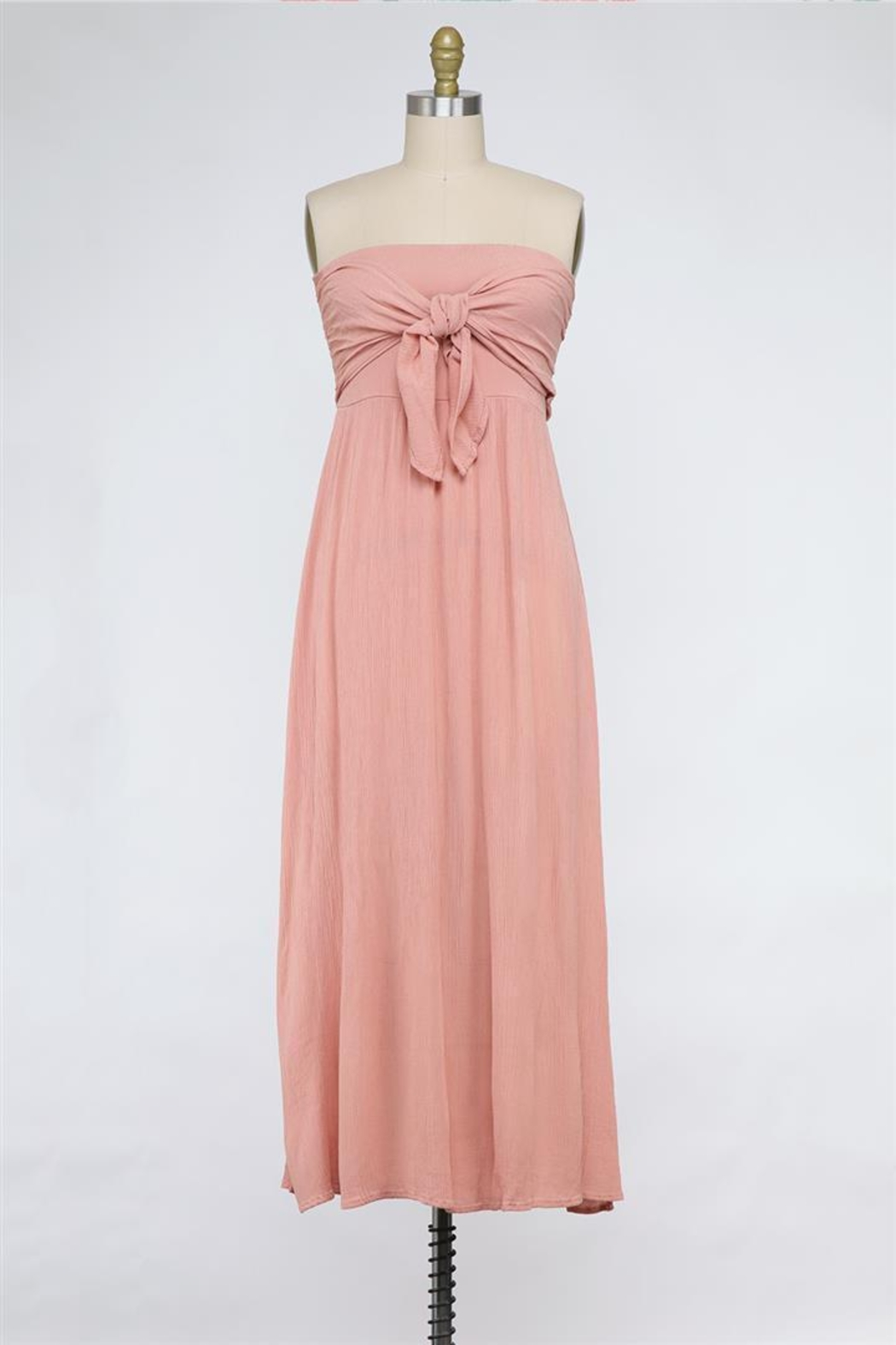 Final Touch Tied And True Strapless Tube Dress (Available In 2 Colors Black & Blush) - Main Image