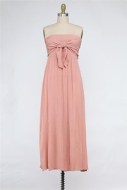 Final Touch Tied And True Strapless Tube Dress (Available In 2 Colors Black & Blush) - Front cropped