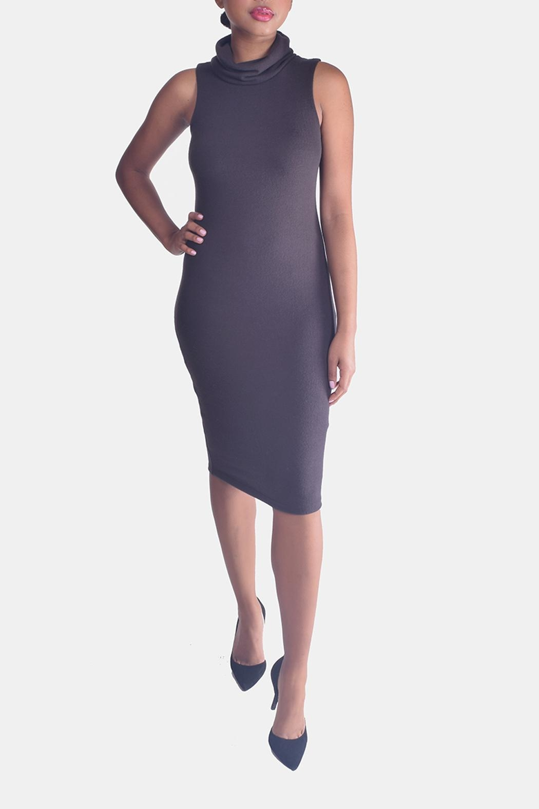 Final Touch Turtleneck Bodycon Dress - Front Full Image