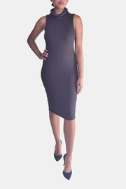 Final Touch Turtleneck Bodycon Dress - Front full body