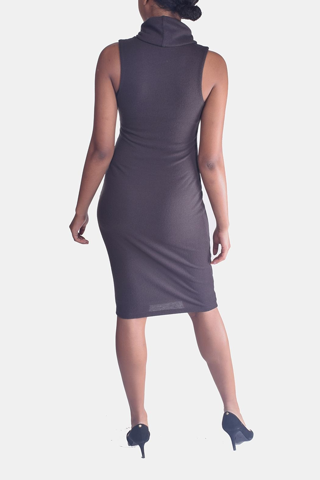 Final Touch Turtleneck Bodycon Dress - Back Cropped Image