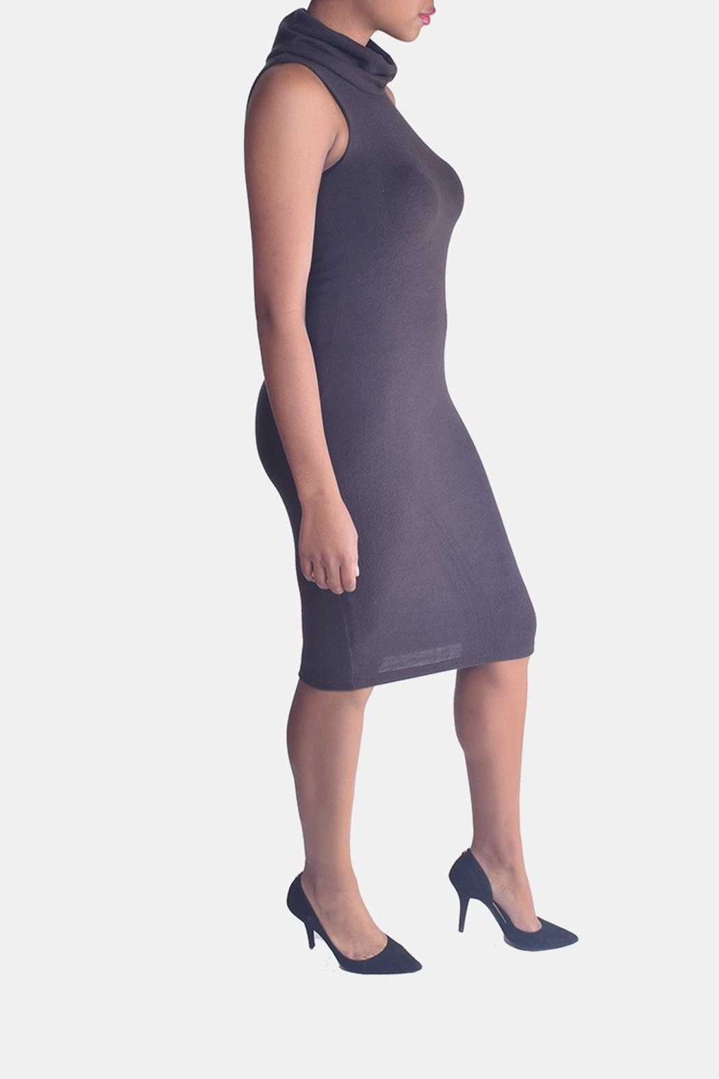 Final Touch Turtleneck Bodycon Dress - Side Cropped Image