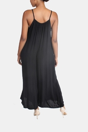 Final Touch Ultra Soft Black Jumpsuit - Back cropped